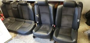 04 07 Cadillac Cts V Leather And Suede Seats Ebony Black Front And Rear Set