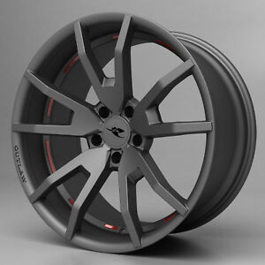 2005 2014 Mustang Cdc Outlaw Wheel Set Staggered Gunsmoke 20 S197 Flow Formed