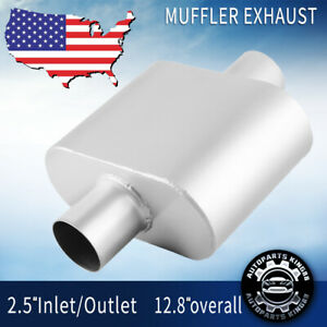 Single Chamber Performance Race 2 5 Inlet Outlet Muffler Silencer Weld On C C
