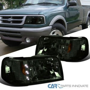 For 93 97 Ford Ranger 2in1 Smoke Led Drl Headlights Corner Turn Signal Lamps