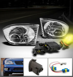 For 01 02 03 04 05 Is300 Altezza Bumper Projector Fog Lights 3000k Hid Harness