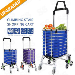 Foldableshopping Cart Grocery Trolley Laundry Stair Climbing Large Handcart Us