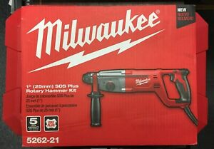 Milwaukee 5262 21 Corded 1 Sds Plus Handle Rotary Hammer Kit new not Refurbed