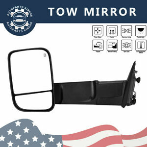 Towing Mirror Power Heated Drive Side For 09 15 Dodge Ram 1500 2500 3500 Pickup