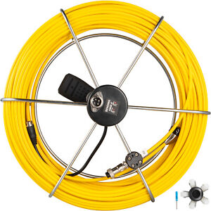 40m Pipe Inspection Cable Camera Drain Sewer Pipeline Cord Wire Replace W handle