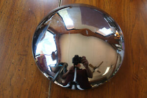 Single Chrome 8 1 2 Inch Baby Moon Hubcap Used