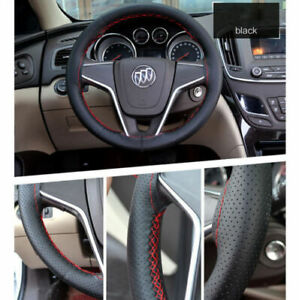 40cm 15 7 Leather Diy Car Truck Steering Wheel Cover Needles Thread