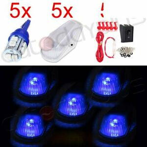 5x Top 12v 10smd Cab Led Light Marker Clearance Lamp Assembly Wiring Switch Kit