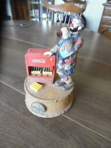 Coca Cola Music Box Limited Edition Featuring Emmett Kelly - 7 1/4