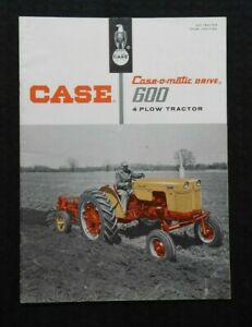 Genuine 1958 Case 600 Series 4 plow Case o matic Tractor Catalog Brochure Nice