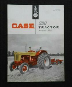 Genuine 1957 Case 900 Series 4 plow case o matic Tractor Catalog Brochure Nice