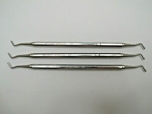Lot Of 3 Lad 3 3 Ladmore Dental Burnisher By Hu friedy Usa