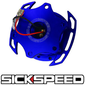 Sickspeed Zero play Blue Steering Wheel Quick Release Hub Sparco Momo Narco P4