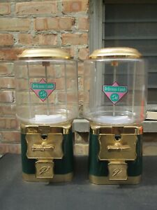 Vintage V line Double Head Lot 25 Gumball Candy Prize Vending Machine Green b