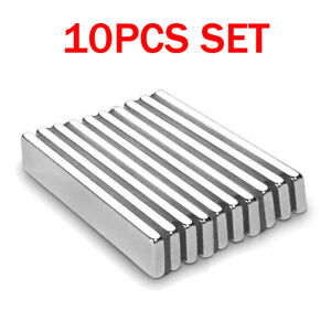 10pcs N52 Strong Neodymium Magnets Rare Earth Lifting Magnets Rectangle Nickel