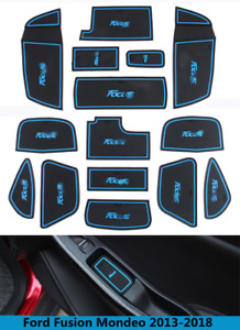 Car Interior Non Slip Door Slot Pad Cup Holder Rubber Mats For Ford Focus 15 18