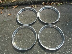 Lot Of 4 1948 Dodge Chrysler Plymouth Ford 15 Inch Beauty Rings Trim Rings