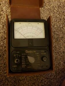 Simpson Model 260 Meter Tube Tester Volt Ohm Multimeter Analog Untested Vintage