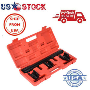 4pc Mechanics Installation Tool Dual Socket Adapter inner Tie Rod Removal Set