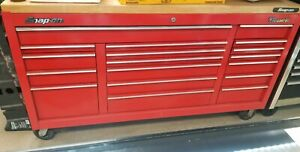 Snap On Classic96 Red Rolling Tool Chest With 18 Drawers And Wood Top
