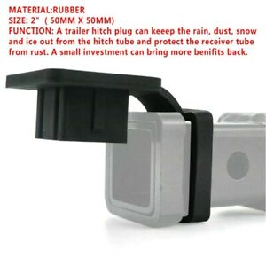 2 Rubber Trailer Hitch Tube Cover Plug Receiver For Toyota Jeep Mercedes 1pc