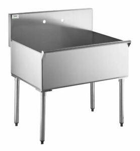 Commercial Utility Sink 36 X 24 X 14 Bowl Stainless Steel One Compartment New