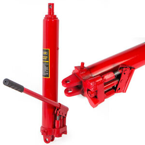 8ton Double Pump Long Manual Hydraulic Ram Jack Engine Lift Cherry Picker Red