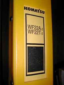 Komatsu Wf22a t 2 Parts Book Manual Catalog Soil trash Compactor Guide Book List