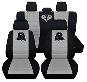 Truck Seat Covers 2007 Dodge Ram Front And Rear Seats Black Silver Personalized