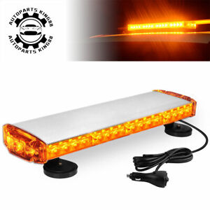 21 Amber Emergency Roof Top Hazard Warning Strobe Light Bar Universal 12 24v