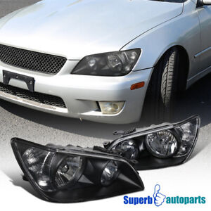 For 2001 2005 Lexus Is300 Black Headlights Head Lamps Replacement Pair