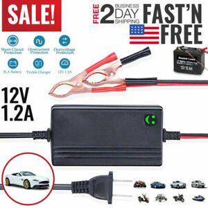 New 12v Portable Auto Car Battery Charger Trickle Maintainer Boat Motorcycle Usa
