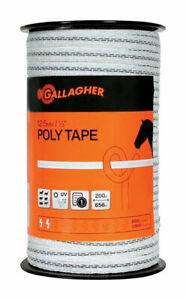 Gallagher Poly Tape 656 Ft White green