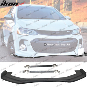 Fits 17 20 Chevy Sonic Rb Style Front Bumper Lip 68x20 In Pp Cf Splitter Rod