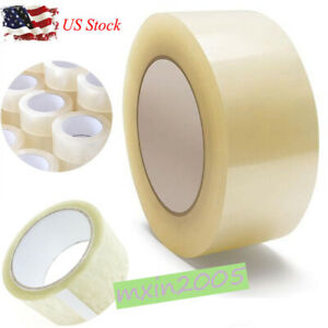 Us 12 18 Rolls Carton Sealing Clear Packing Tape Box Shipping 3 Model