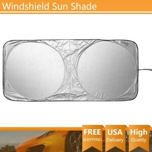 1 Pc 150x70cm Car Front Window Sun Shade Visor Folding Uv Block Cover Windshield