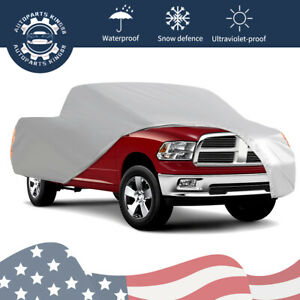 22ft Pickup Truck Full Car Cover Waterproof Rain Snow Dust Proof Silver Us