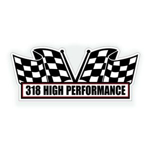 318 High Performance Engine Air Cleaner Decal Fits Chrysler Mopar Muscle Car
