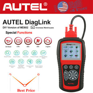 Automotive Full System Scanner Diaglnk Diagnostic Tool Airbag Abs Oil Service Us