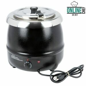 11 Qt Counter Top Sauces Soup Nacho Cheese Chilis Kettle Warmer Resto Bar Party