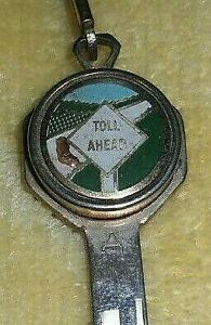 Vtg Chevy Ford Dodge Pontiac Toll Booth Key Coin Holder Hot Rat Rod Sled 50s 60s