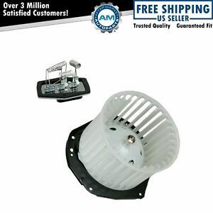 A c Ac Heater Blower Motor W Fan Cage Resistor Kit For Chevy Gmc Truck Suv