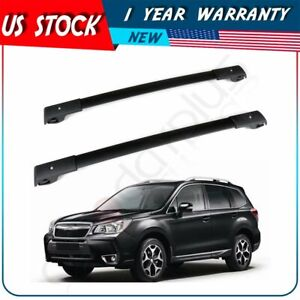 For 09 13 Subaru Forester Oe Style Roof Rack Cross Bars Set Luggage Carrier