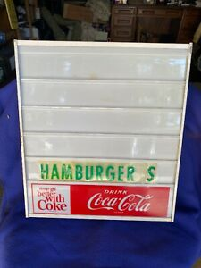 Vintage 1960's Coca-Cola Light-Up Menu Board