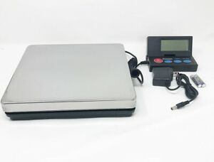 Digital Shipping Scale Postal Parcel Scale 110 Lbs Stainless Steel W Ac Adapter
