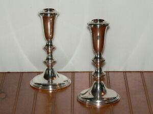 Vintage Empire Sterling Silver Candle Sticks Holders
