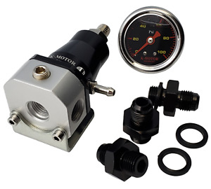 Fuel Pressure Regulator Kit Adjustable Universal Efi An 6