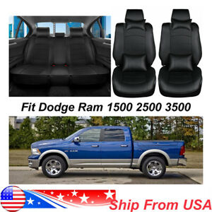 Front Rear Car Seat Cover For Dodge Ram1500 2500 3500 2013 2017 Full Set Cushion