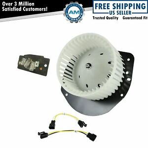 A c Ac Heater Blower Motor W Fan Cage Resistor Kit For Ford Lincoln Mercury