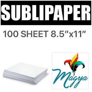 Transfer Paper For Dye Sublimation Inks 100 Sheets 8 5 x11